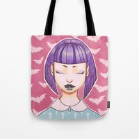 pastel goth Tote Bags featuring Pastel Goth by IMEON2