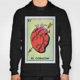Vintage El Corazon Tarot Card Heart Love Artwork, Design For Prints, Posters, Bags, Tshirts, Men, Wo Hoody