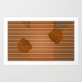 Cubes and jalousie Art Print