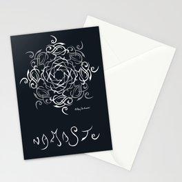 Namaste Mandala - Black White Stationery Cards