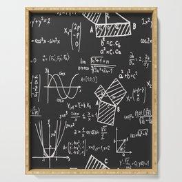 A vector Maths chalkboard, No 01 Serving Tray
