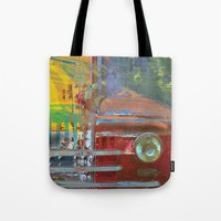 car Tote Bags featuring Car by Fernando Vieira