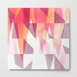Abstract Geometric Mountains Design Metal Print