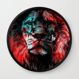 Lion wild cat #lion Wall Clock