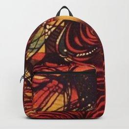 Woman in red Backpack