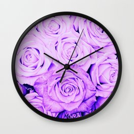 Some people grumble - Floral Ultra Violet Rose Roses Flowers Wall Clock
