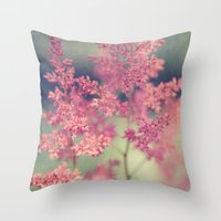 coral Throw Pillows featuring Coral by Sandra Arduini