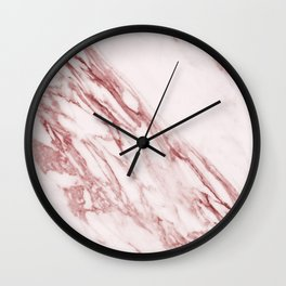 Pink Marble Pattern - Pink Marble Swirl Texture Wall Clock