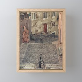 Alfama, Lisbon. Framed Mini Art Print