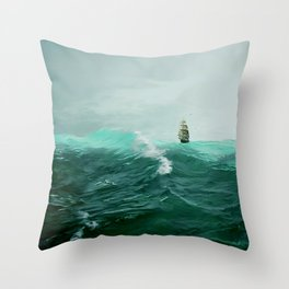 Perilous Green Throw Pillow