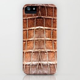 EXOTIC PRINT JC SNAKE BROWN iPhone Case