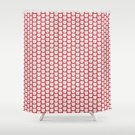 Red Polar Bears Shower Curtain