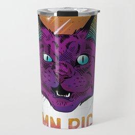Angry Cat Travel Mug