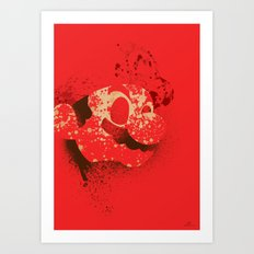 The Red Knight (Red Version) Art Print