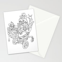 Coloring for Real Grownups. Stroller Stationery Cards