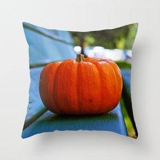 Park pumpkin Throw Pillow