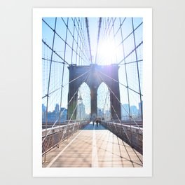 303. Sunny Brooklyn Bridge, New York Art Print