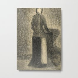 Nurse with a Child's Carriage Metal Print