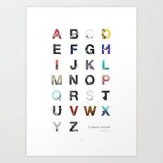Sneakers Alphabet Art Print