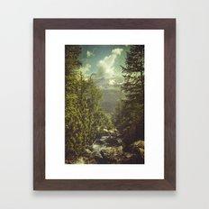 Mountain View - Italian Alps Framed Art Print