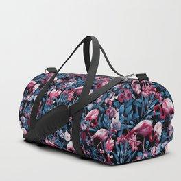 Floral and Flamingo VIII Duffle Bag