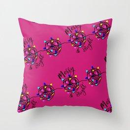 Merry & Bright Throw Pillow
