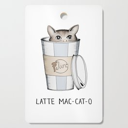 Latte Mac-cat-o Cutting Board