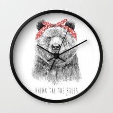 Break the rules Wall Clock