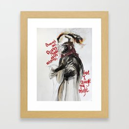Burning Like A Bridge Through Your Body Framed Art Print