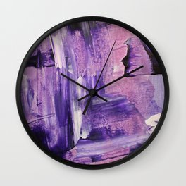 Purple Mess Wall Clock