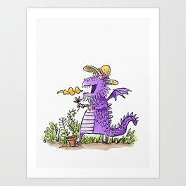 Dagon in the garden Art Print