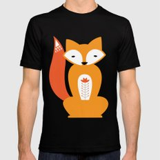 Ferdinand the Fox Mens Fitted Tee MEDIUM Black