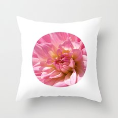 PINK DAHLIA CROWN IX Throw Pillow