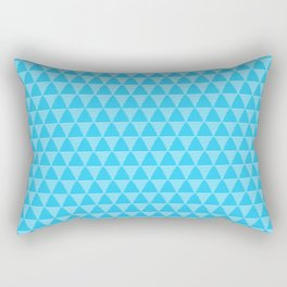 Simple Geometric Triangle Pattern- White on Teal - Mix & Match with Simplicity of life Rectangular Pillow