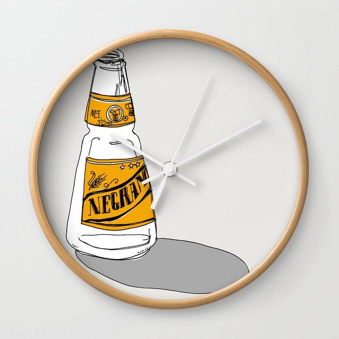 negra modelo wall clock by xeniabesorasala society6