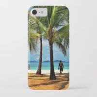 philippines iPhone & iPod Cases featuring Malcapuya Island, Philippines by Filipinka