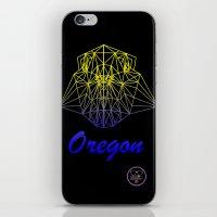 oregon iPhone & iPod Skins featuring Oregon by ArtsyKiwi
