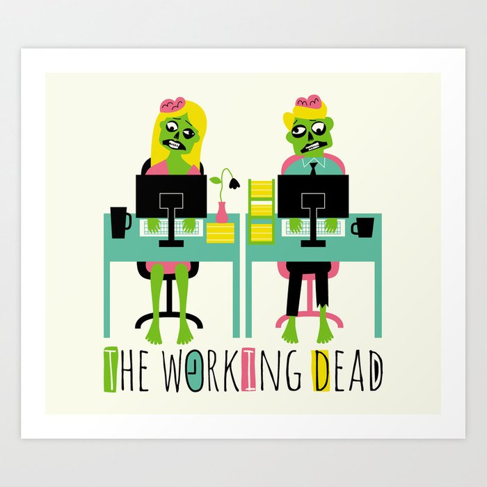 Discover the motif THE WORKING DEAD by Andy Westface as a print at TOPPOSTER