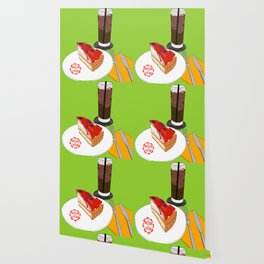 Strawberry Cake Break Wallpaper