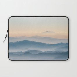 Fog layers, hills and mountains Laptop Sleeve