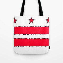 Fancy Flag: Washington, DC    District of Columbia Tote Bag