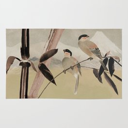 Two Birds in Bamboo Tree Rug
