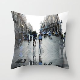Summer space, smelting selves, simmer shimmers. 15 Throw Pillow
