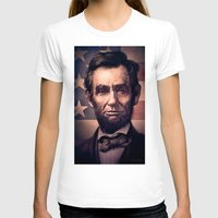 lincoln T-shirts featuring Lincoln by Dominick Saponaro