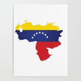 Venezuela - venezuelan heart - flag design Poster