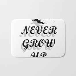 Never Grow Up Bath Mat