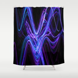 Frenetic Energy Abstract Graphic Design Shower Curtain