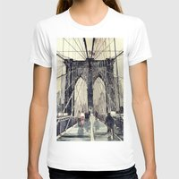 takmaj T-shirts featuring Brooklyn Bridge by takmaj