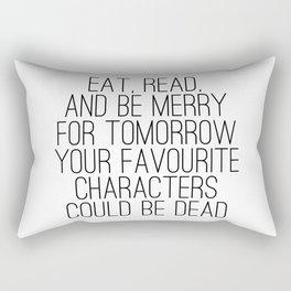 Eat, Read, and be Merry... Rectangular Pillow