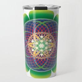 Metatrons cube flower of life mandala Travel Mug